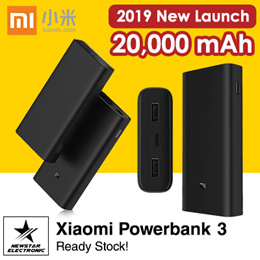 Xiaomi Mi3 20000mAh Power Bank USB-C Two-way 45W QC3.0 Fast Charge [READY STOCK]