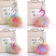 unicorn hanging pieces Key Chain Bag Car Key Ring Accessories