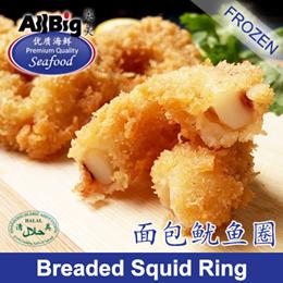 [All Big]Breaded Squid Ring(1KG)(50Pcs)(Frozen)(Halal)