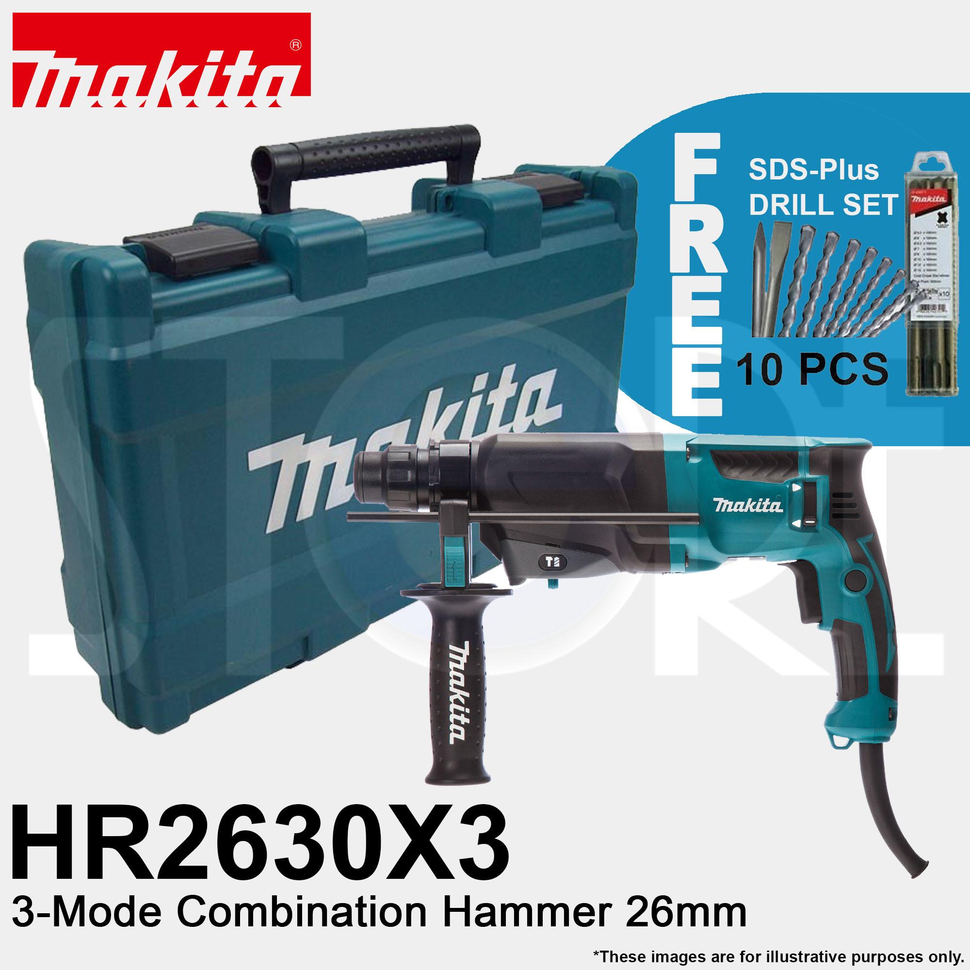 makitaMakita HR2630X3 3-Mode Combination Hammer Drill 26mm