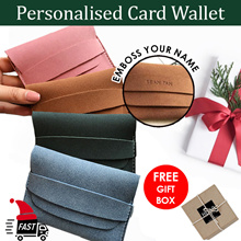 [CHRISTMAS GIFT]♥Embossed Name Card Wallet UNISEX Korea|Personalised Gift Singapore Christmas Gifts