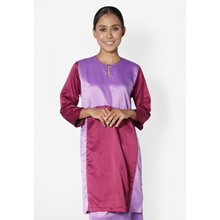 Fitri Colour Block Baju Kurung (Purple)