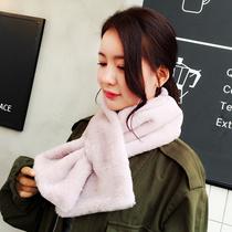 【送料無料】新色発売開始♪韓国ファッション 柔らかい♪厚い快適な、暖かい♪アン マフラー起毛のある暖かさが気持ちいい♪ウサギのスカーフ