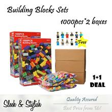 【Special Deal 1+1】1000pcs Building Blocks Set of 2 + Free 12pcs Figurines