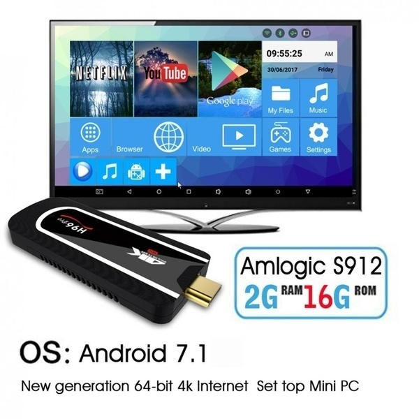 Sanwood?? 2G/16G WiFi 2 4GHz BT4 1 UHD 4K for Android 7 1 Mini PC Media  Player TV Box