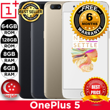 Oneplus 5 Smartphone/64GB ROM+6GB RAM and 128GB ROM+8GB RAM/Export Set w 6mth Warranty