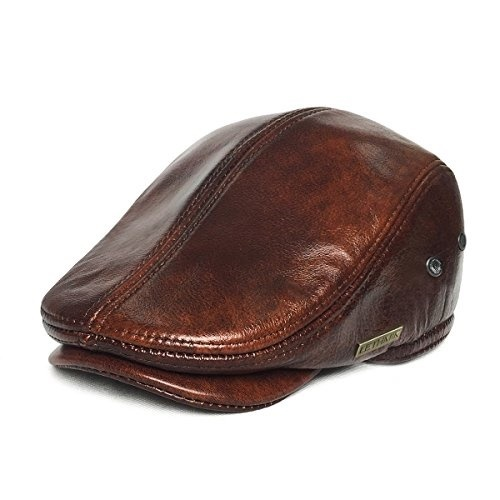818718b2ba014f fit to viewer. prev next. LETHMIK Flat Cap Cabby Hat Genuine Leather  Vintage newsboy Cap IVY Driving Cap