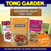 [ BUNDLE OF 4 ] Tong Garden Assorted Nuts 140g-180g - Available in 11 Flavours