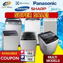 *SUPER SALES* Panasonic / Midea / Electrolux / Sharp / Samsung Top Loading Washing Machine (7-8.6KG)