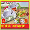 One Touch Deluxe Vegetable Slicer cooking