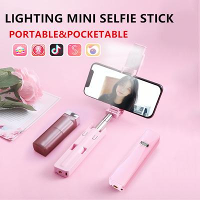 f4927b57e7bb Premium New Version Pocket Selfie Stick Bluetooth Controlled Selfie Stick  With LED Light LED Selfie Stick