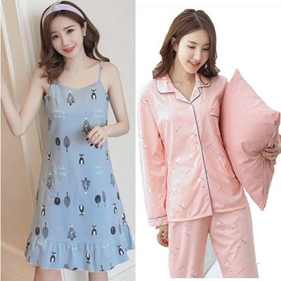 women pyjamas Sleepwear ladies Couple Pajamas Lingerie dress kids Nightwear  Loungewear Home Wear hou c370f151e
