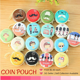 Macaron Coin Pouch / Round small Bag / Ear Phone container / coin carrier / Keys Pouch / Goodie Bags / Children gifts / Chrismas Gifts