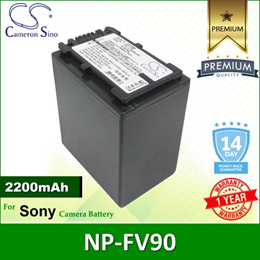 CameronSino Battery for Sony DSC-HX1 / DSLR-A230 / DSLR-A330 / HDR-HC3 Battery 2200mah CA-FV90