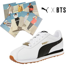 ★[PUMA X BTS] ★Lowest Price in Qoo10 SG★Free Gift/ 防弹少年团 TURIN/100% AUTHENTIC/Sneakers/ BTS bangtan Photocard Gift / Flat Price / Free Shipping