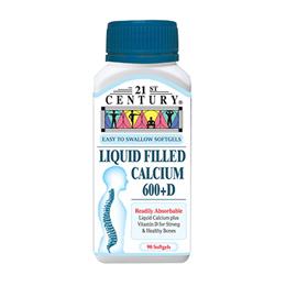 [21st Century] Liquid Filled Calcium 600 + D - 90 Softgels