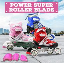 Kualitas Super Roller Blade Superb / Sepatu Roda Anak Roda ada lampu