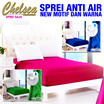 SPREI ANTI AIR (WATERPROOF) New Motif dan Warna [ Sprei Saja ]