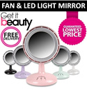 [SAVE $36]★QUALITY GUARANTEED★ PREMIUM QUALITY/AUTHENTIC Makeup Mirror with 36 LED Light and Fan- GET IT BEAUTY!