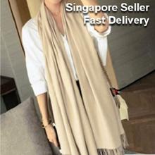 Korean Fashion Scarf Winter Smooth Cashmere Shawl Gift