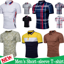2018 Men Short Sleeve t-shirt / Polo shirt Tops / Casual Cotton tee / Printed t-shirt / Sweatshirt