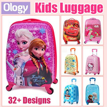 42 Designs Cartoon Cute Kids Suitcase Luggage Frozen Spiderman Car Baymax Strawberry Girl Dora
