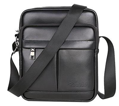 d956a2bd5f (Zicac) Zicac Men s Small Canvas Shoulder Bag Briefcase Messenger Bags  Satchel-