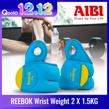 [Flash Deal] REEBOK Wrist Weight (2 X 1.5KG) – Cyan RAWT-11072CY   Sell in a pair   Fitness   yoga   gym   Limited stock