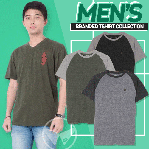 New Collection Branded Mens Tshirt Collection Deals for only Rp65.000 instead of Rp76.471