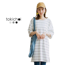 TOKICHOI - Striped Oversized Tee-180262