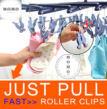 FLEXIBLE Laundry Clips ★ 29pcs Premium Roller Clip Hanger / Baby Laundry Dry Clothes Dress Organizer