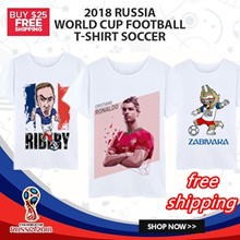 RUSSIA 2018 happy the world cup mens womens tshirt 100% cotton short sleeve shirt with free shipping