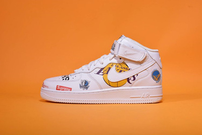 official photos f2044 462ad Tripartite joint name Supreme x NBA x Air Force 1 AF1 Joint Air Force No. 1