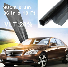 90cm X 3m Scratch-Resistant Window Tint Film Roll 20% VLT 36& amp amp quot  In X 10'  Ft Feet
