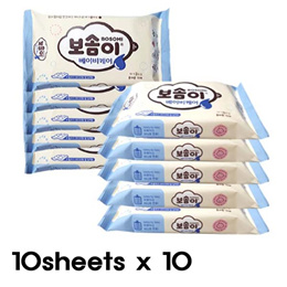 MINI WET TISSUE★★BABY TISSUE/10 Sheets x 10/Pocket Size Wet Tissue/wet wipes