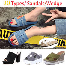 [Buy 2 Free Shipping] New Summer Wedge Sandals Women Fashion Platform Shoes/slippers/Flats