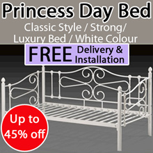 50% Off * Princess Day Bed Frame * White Colour * Free / Fast Delivery * Free Installation *In Stock
