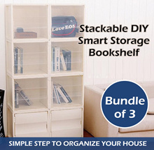 [Bundles of 3] Stackable DIY Smart Cube Storage Bookshelf Wardrobe Cabinet Rack Shelf Box Compartmen