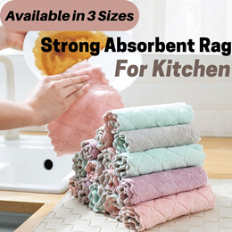 Super Absorbent Microfiber Kitchen Dish Cloth High-efficiency Double-sided Dish Towel Rag Wash