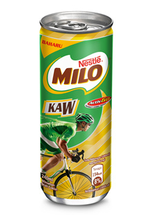 MILO Activ-Go Kaw Chocolate Malt RTD 24 Cans 240ml Each