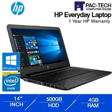 [Brand New] HP 14-BS537/Intel N3060/4GB RAM/500GB HDD/14 Inch/DVD R/1 Year HP Warranty|