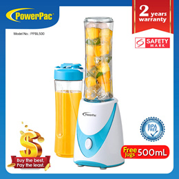 PowerPac Juice Personal Blender with 2X BPA Free Jugs (PPBL500)