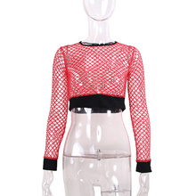 5037f4b41bb4 sale Black Friday Deals 2017 New Sexy Women See through Perspective Sheer  Mesh Fishnet Tee Bodycon