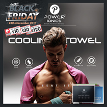 【HOT SALE】Power Ionics Cool Ice Cold Towel Sports Gym Drying Sweat Absorb Dry Jogging Yoga
