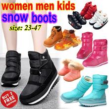 Winter Wear/Kids Women Men Winter Snow Boots/ Girl Boy Children Non-slip Fur Waterproof Warm Shoes