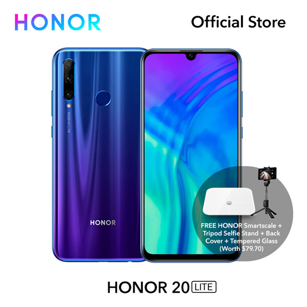 HONOR 20 LITE Deals for only RM1036.8 instead of RM1234