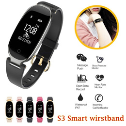 Fashion S3 Bluetooth Waterproof Smart Watch Fashion Women Ladies Heart Rate Monitor Fitness Tracker