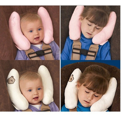 Baby Kid Head Neck Support Car Seat Pillow Trolleys Adjustable Child Care