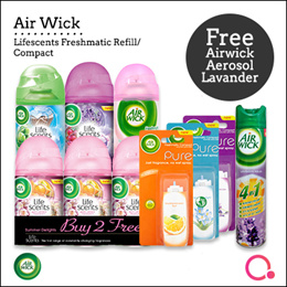 [RB]【FREE Lavender Aerosol】Airwick® - Lifescents Freshmatic Refill/ Airwick Compact