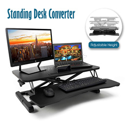 Stand Up Desk Riser Standing Converter Dual Monitor and Laptop Table With Adjustable Height